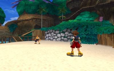 Screen ze hry Kingdom Hearts: Final Mix