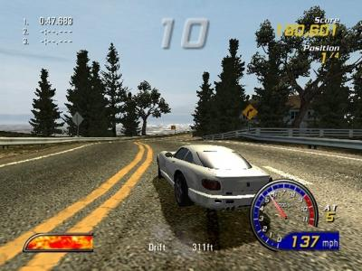 Screen ze hry Burnout 2: Point of Impact