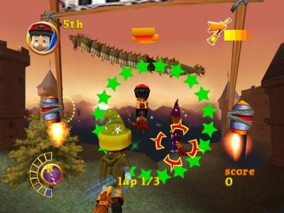 Screen ze hry Billy the Wizard: Rocket Broomstick Racing