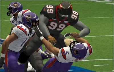 Screen ze hry Arena Football: Road to Glory