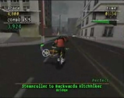 Screen ze hry Mat Hoffman´s Pro BMX 2