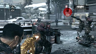 Screen ze hry Gears of War 2