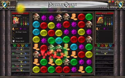 Screen ze hry Puzzle Quest: Chalenge of the Warlords