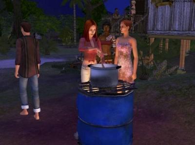 Screen ze hry The Sims: Příběhy Trosečníků
