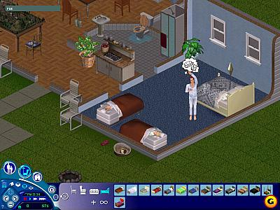 Screen ze hry The Sims: Unleashed