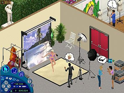 Screen ze hry The Sims: SuperStar