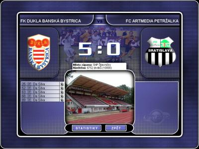 Screen ze hry Czech Soccer Manager 2002