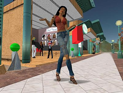 Screen ze hry Second Life