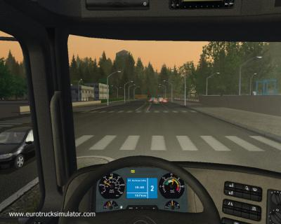 Screen ze hry Euro Truck Simulator