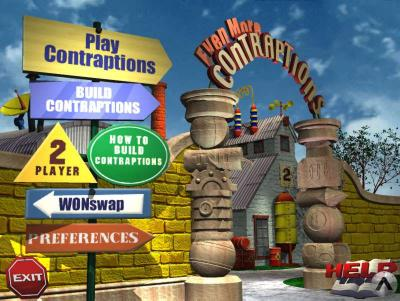 Screen ze hry The Incredible Machine: Even More Contraptions