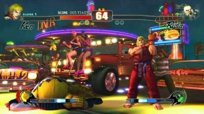 Screen ze hry Street Fighter IV