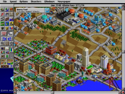 Screen ze hry SimCity 2000