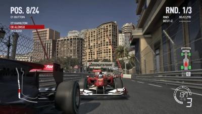 Screen ze hry F1 2010