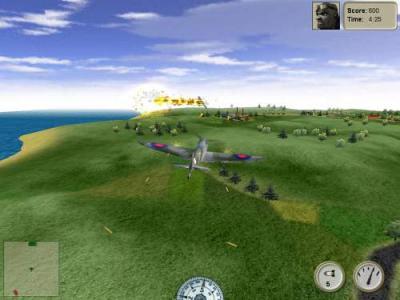 Screen ze hry Plane Arcade