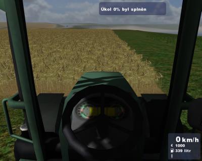 Screen ze hry TRAKTOR - Zetor Simulátor 2009