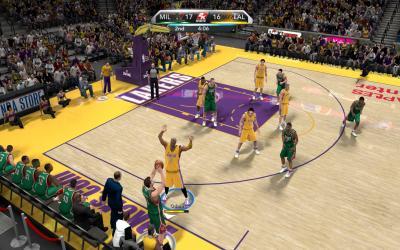 Screen ze hry NBA 2K10