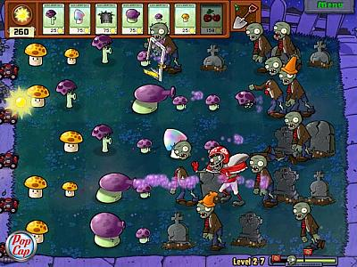 Screen ze hry Plants vs Zombies