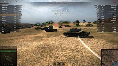 Screen ze hry World of Tanks