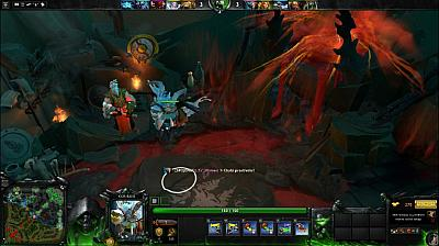 Screen ze hry DOTA 2 - Defence of the ancients 2