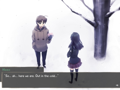 Screen ze hry Katawa Shoujo