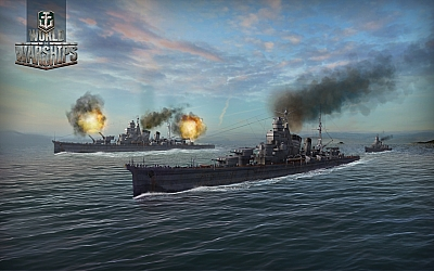 Screen ze hry World of Warships