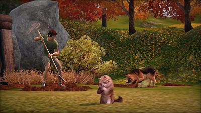 Screen ze hry The Sims 3: Domácí mazlíčci