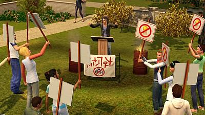 Screen ze hry The Sims 3: Studentský život