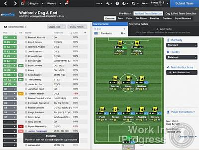 Screen ze hry Football Manager 2014