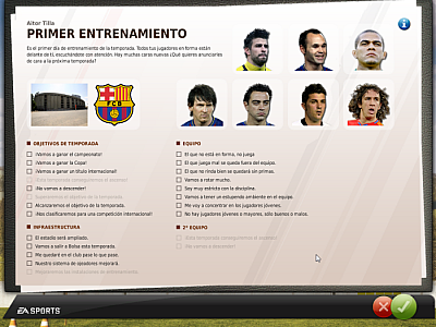 Screen ze hry FIFA Manager 11