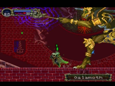Screen ze hry Castlevania: Symphony of the Night