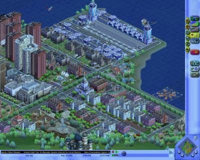 Screen ze hry SimCity 3000