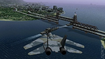Screen ze hry Ace Combat X: Skies of Deception