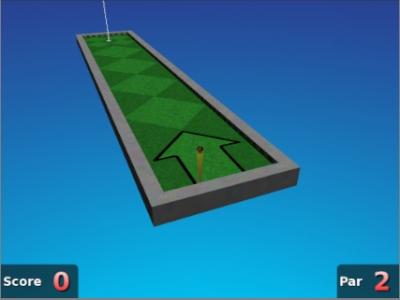 Screen ze hry Neverputt