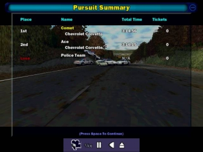 Screen ze hry Need for Speed: High Stakes