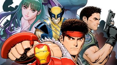 Artwork ke hře Marvel vs. Capcom: Clash of Super Heroes