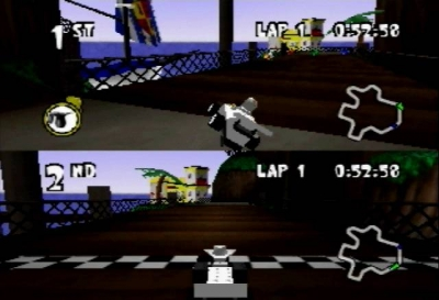 Screen ze hry LEGO Racers