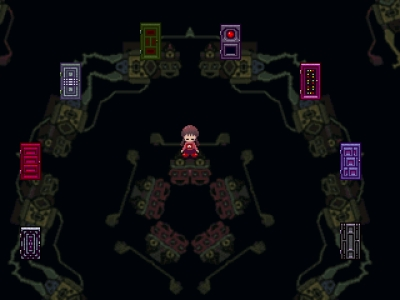 Screen ze hry Yume Nikki