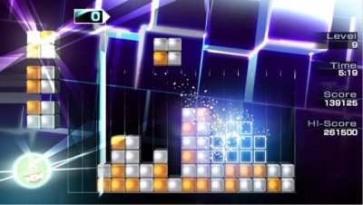 Screen ze hry Lumines: Electronic Symphony