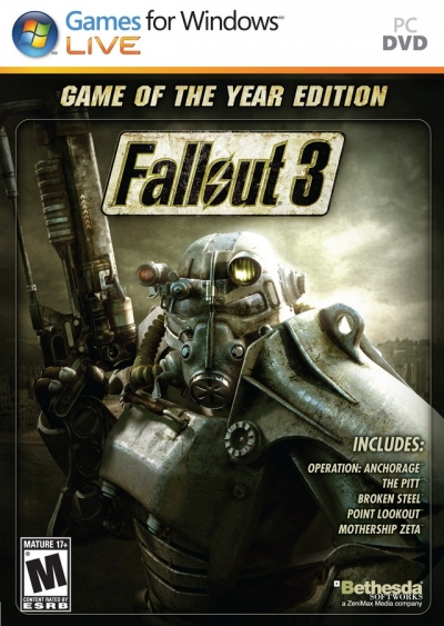 Obal hry Fallout 3: Game of the Year Edition