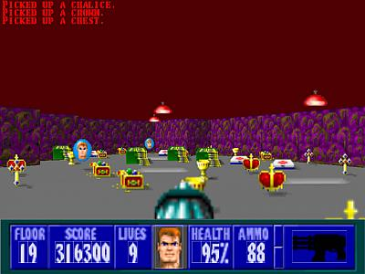 Screen ze hry Wolfenstein 3-D: Spear of Destiny