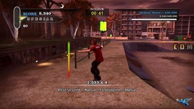 Screen ze hry Tony Hawk´s Pro Skater HD