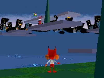 Screen ze hry Bubsy 3D