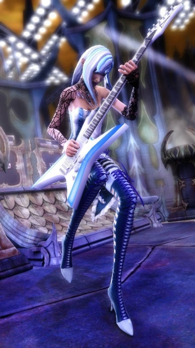 Screen ze hry Guitar Hero: Warriors of Rock