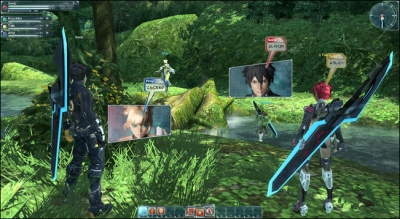 Screen ze hry Phantasy Star Online 2