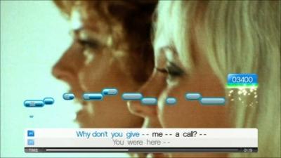 Screen ze hry SingStar ABBA