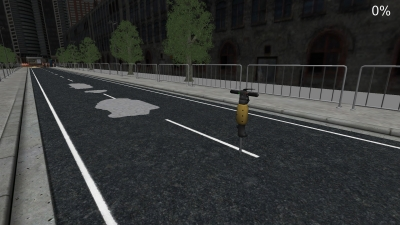 Screen ze hry Travaux Routiers Simulator 2011