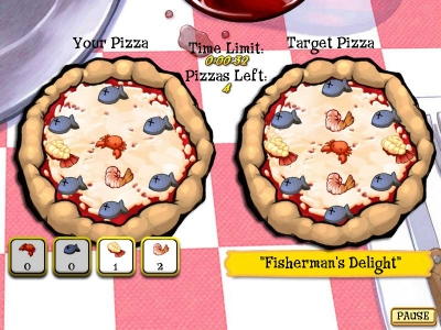 Screen ze hry Pizza Frenzy