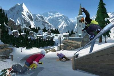 Screen ze hry Shaun White Snowboarding