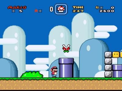 Screen ze hry Super Mario World