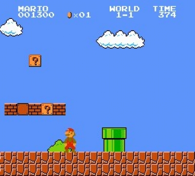 Screen ze hry Super Mario Bros.